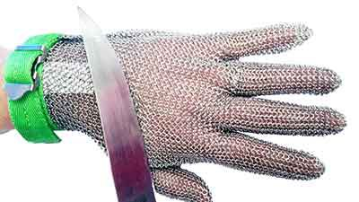 Application of ring mesh gloves
